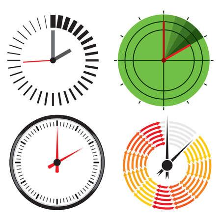 ringer: Clock icons Illustration