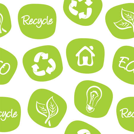 save planet: green environment and recycle background Illustration