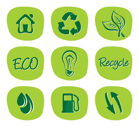 green environment and recycle icons Stock Vector - 18523119