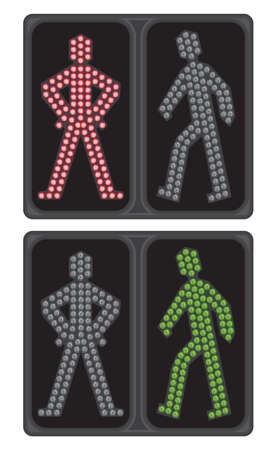 LED crosswalk signal Vector