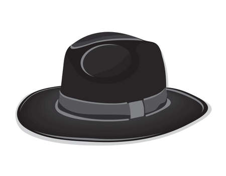 Black hat on the white background Vector