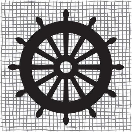seaman: Old ship wheel