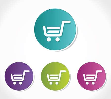 gift cart: shopping cart icon