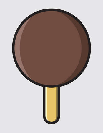 ice cream with chocolate dressing Vector