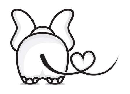 silhouettes elephants: Elefante en amor Vectores