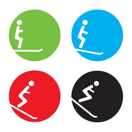 crouch: Ski icons Illustration