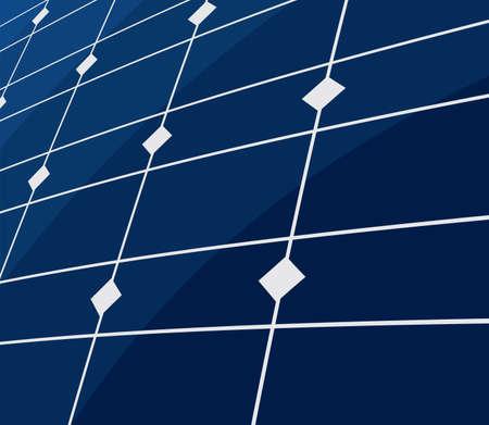 ecologically: solar panel background Illustration
