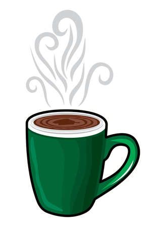 steaming coffee: cup of coffee Illustration
