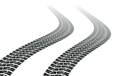 Winding trace of the tires Vector