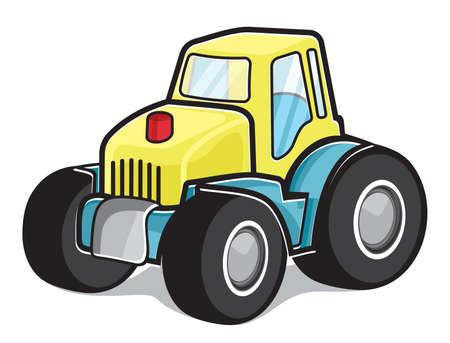 construction vehicle: tractor Illustration