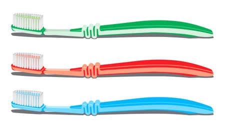clean bathroom: toothbrush set  illustration