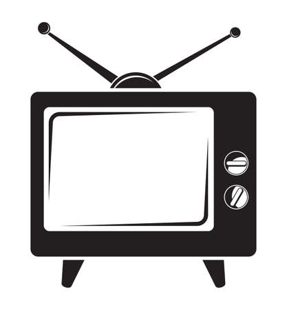 Retro tv icon Stock Vector - 18689606
