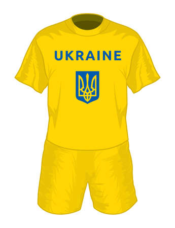 Ukraine football uniform Vector