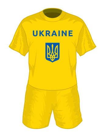 jersey: Ukraine football uniform