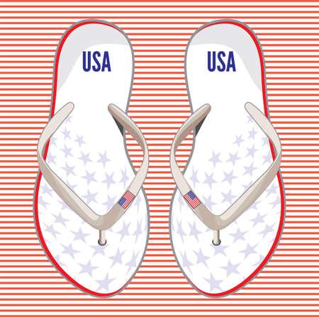 flip flop: USA flip flop sandals
