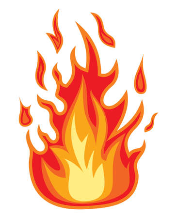 Fire flame Stock Vector - 18579640