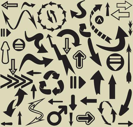arrows seamless pattern Stock Vector - 18733950