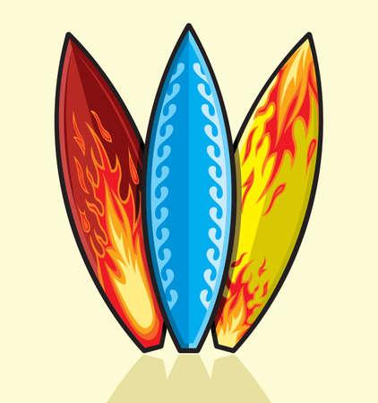 hula: tablas de surf