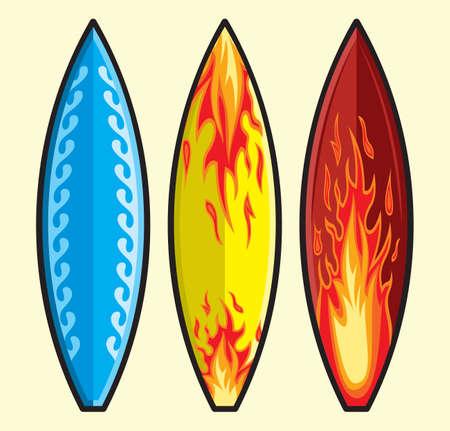 hula: Tablas de surf vector