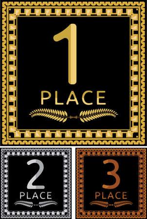 gold plaque: Gold silver bronze plaque