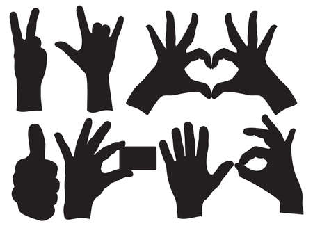 Human Hand Sign collection Vector
