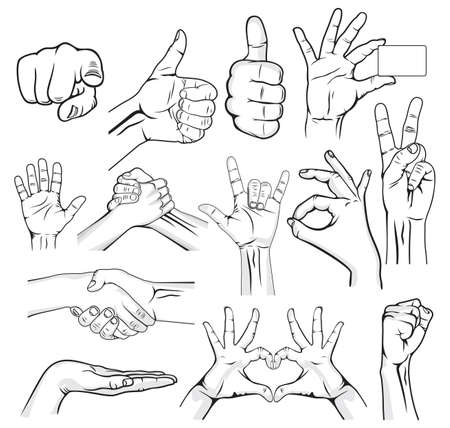 ok sign language: Human Hand Sign collection