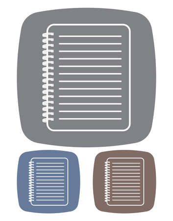 notebook icon Stock Vector - 18733910