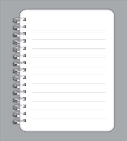 copybook: notebook blank with metal wire Illustration