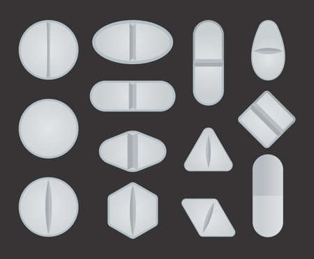 vector set of pills Stock Vector - 18662049