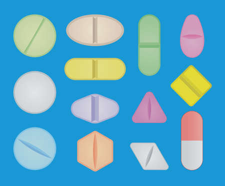 vector set of pills Stock Vector - 18662050