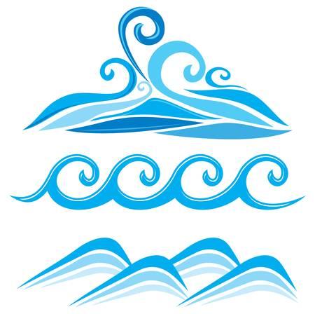 Set of wave symbols Stock Vector - 18662046