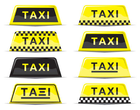 Taxi sign set Stock Vector - 18661657
