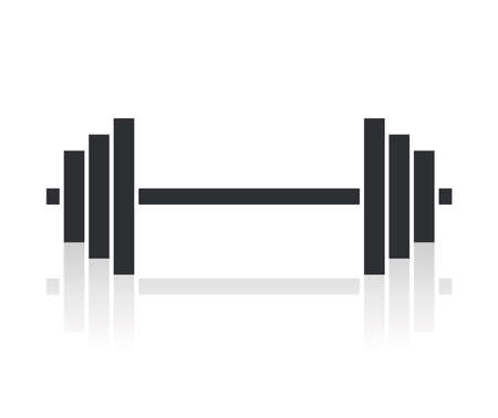 dumbbell weights symbol Vector
