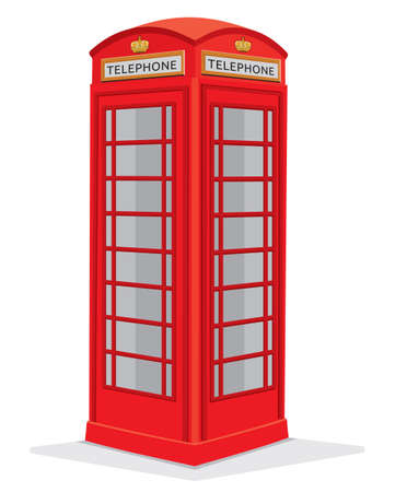 Red telephone box - London Vector