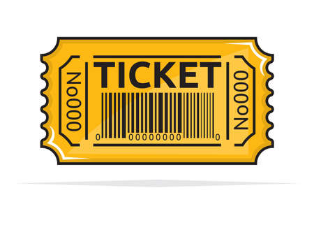 Yellow ticket Stock Vector - 18579659