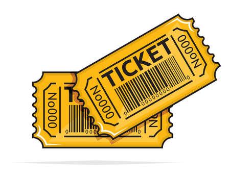 ticket icon: Yellow ticket Illustration