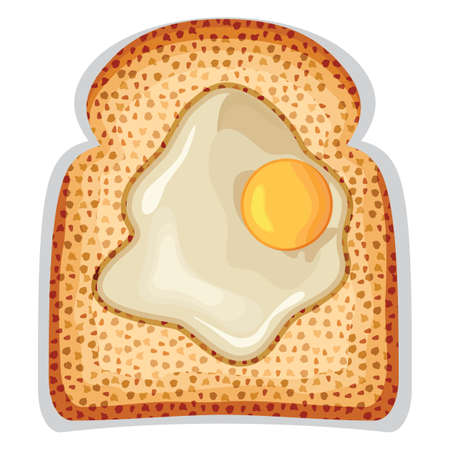 crusty: A fried egg sunny side up of crusty toast