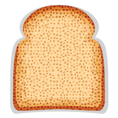 toast bread slice Stock Vector - 18579662