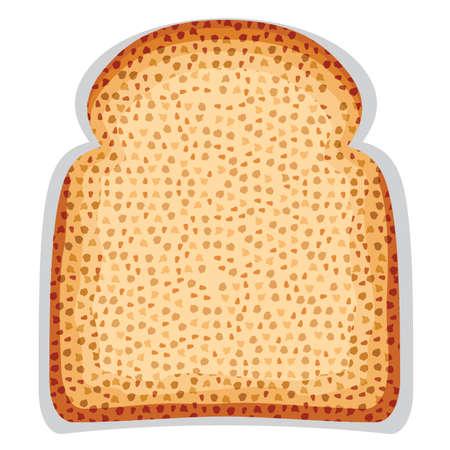 toasted bread: toast bread slice