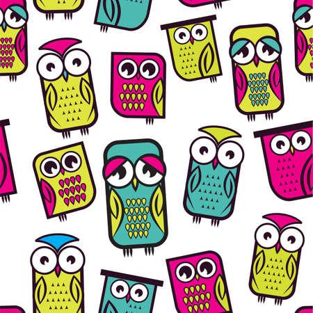 cute wallpaper: Patr�n Seamless owl