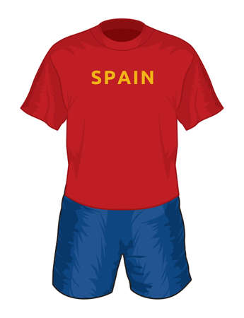 Spain football uniform Stock Vector - 18650136