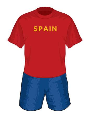 Spain football uniform Stock Vector - 18650136