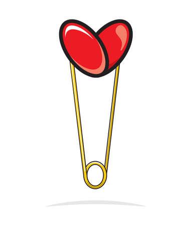 Heart shape paper clip Stock Vector - 18690151