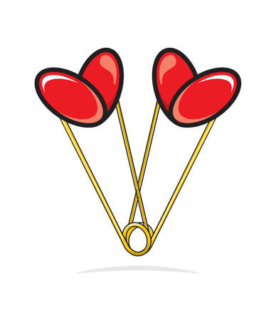 Heart shape paper clips Stock Vector - 18690153