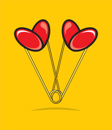 Heart shape paper clips Stock Vector - 18661790