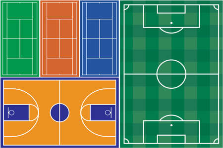 crossbars: Tennis basketball and football court