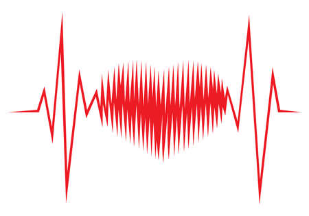 Heart shape ECG line Stock Vector - 18661750