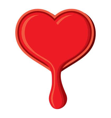 leaking: Heart leaking Illustration