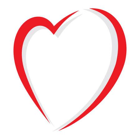 love heart: Red heart