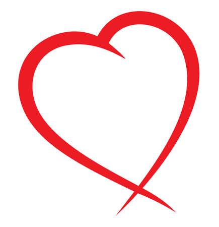 saint valentin coeur: Coeur rouge